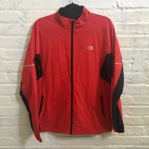The north face men's red windbreaker
